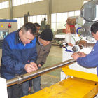 Big Diameter Screen Basket Wedge Wire Screen Production Machine , Cast Steel Material